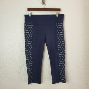 Athelta High Rise Eyelet Chaturanga Capri Pants